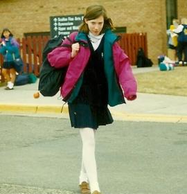 Me as a surly schoolgirl.