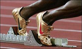 Michael Johnson Gold Shoes