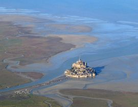 Mont Saint Michel — Normandy, France. Source: Wikipedia