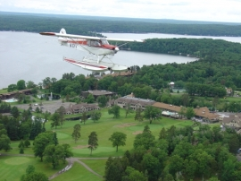 Aerial view of Madden's Resort, from maddens.com
