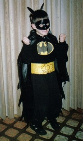 Nate as Batman